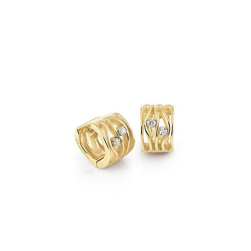 Boucles d'oreille Dune or jaune et diamants Annamaria Cammilli