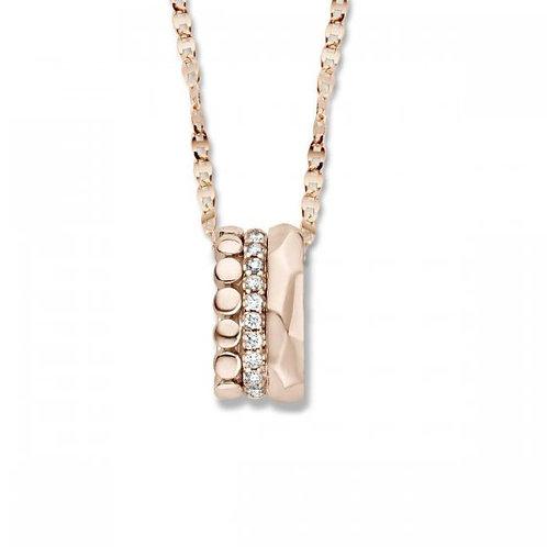 Collier diamants or rose Ischia One More