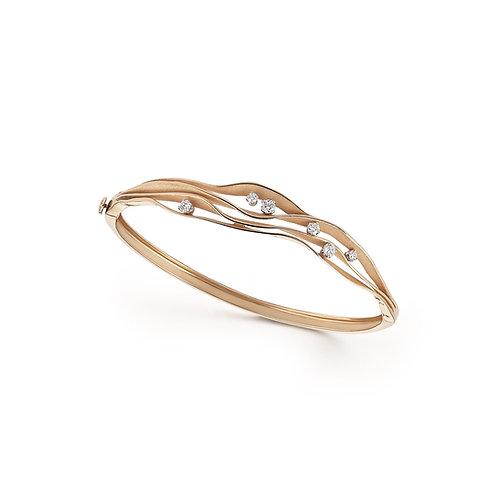 Bracelet en or rosé/orangé et diamants Annamaria Cammilli