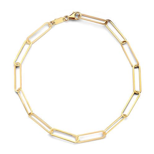 Bracelet  fines mailles aérées or jaune Beheyt