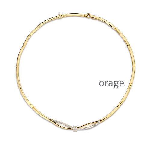 Collier Orage AR155 en argent doré et oxydes de zirconium