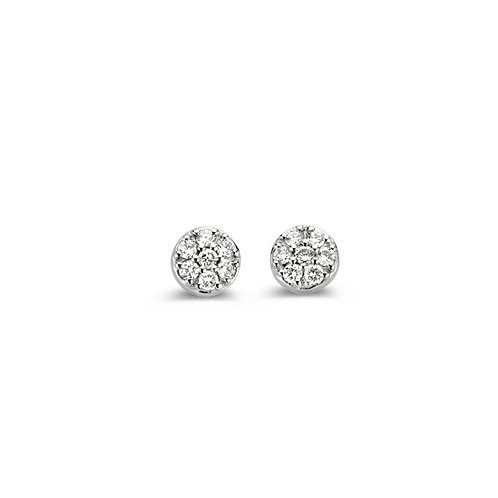 Boucles d'oreilles mini pavés ronds diamants Eolo One More