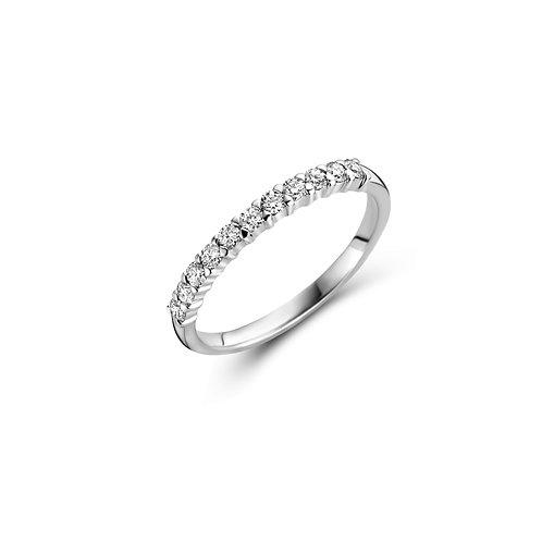 Alliance en or blanc et diamants BLOCH