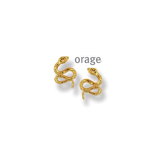 Boucles d'oreille Orage Kids AP242 en argent doré