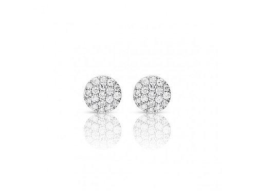 Boucles d'oreille pavés ronds diamants Eolo One More