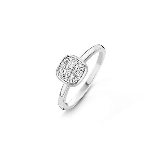 Bague pavé diamants or blanc Vulsini One More