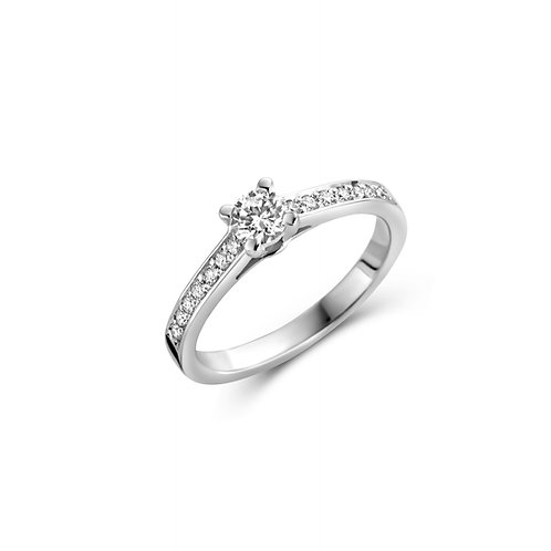 Solitaire en or blanc et diamants BLOCH