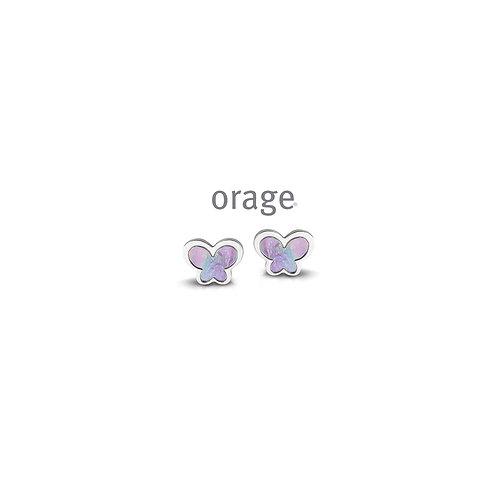 Boucles d'oreille Orage Kids AP224 en argent rhodié et laque