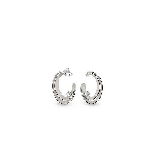 Boucles d'oreille Dune or blanc et diamants Annamaria Cammilli