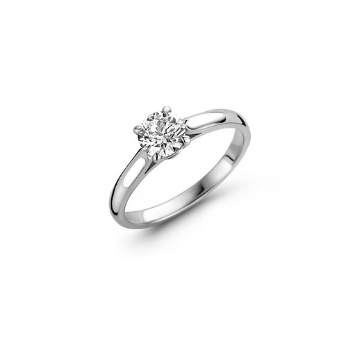 Solitaire en or blanc et diamant brillant BLOCH