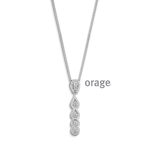 Collier Orage AP037 en argent rhodié et oxydes de zirconium
