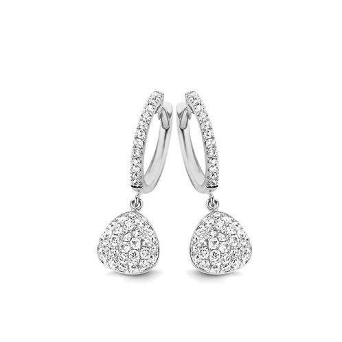 Boucles d'oreille pavés diamants pendantes Vulsini One More