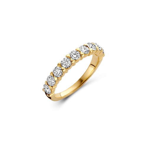 Alliance en or jaune et diamants BLOCH