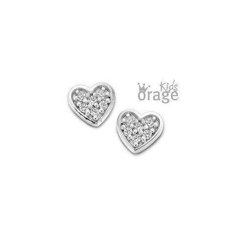 Boucles d'oreille Orage Kids K1820 en argent rhodié et oxydes de zirconium