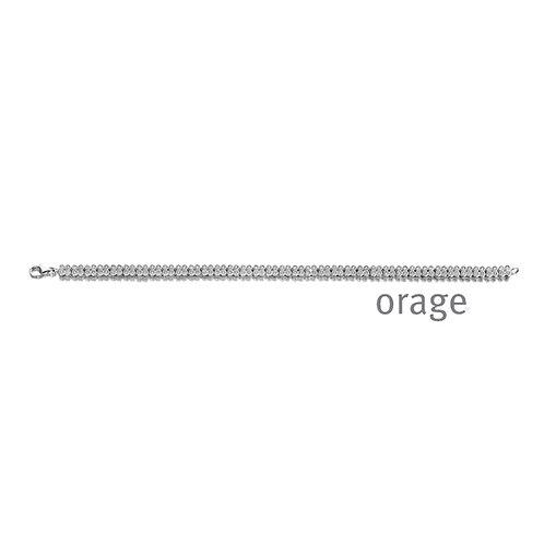 Bracelet Orage AR109 en argent rhodié et oxydes de zirconium