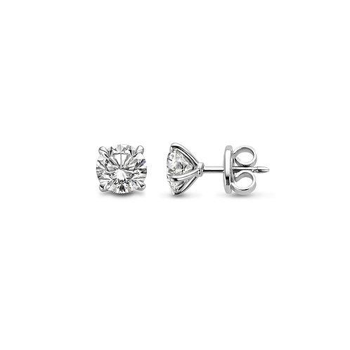 Boucles d'oreille en or blanc et diamants BLOCH