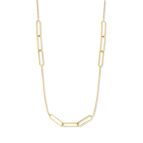 Collier motifs alternés or jaune Beheyt