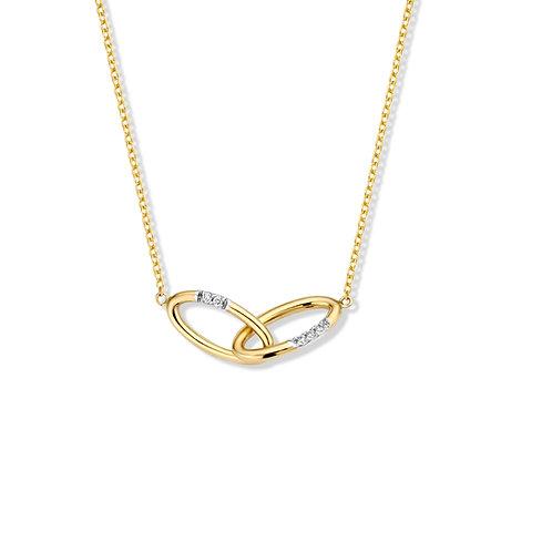 Collier motifs entrelacés or jaune et diamants Beheyt