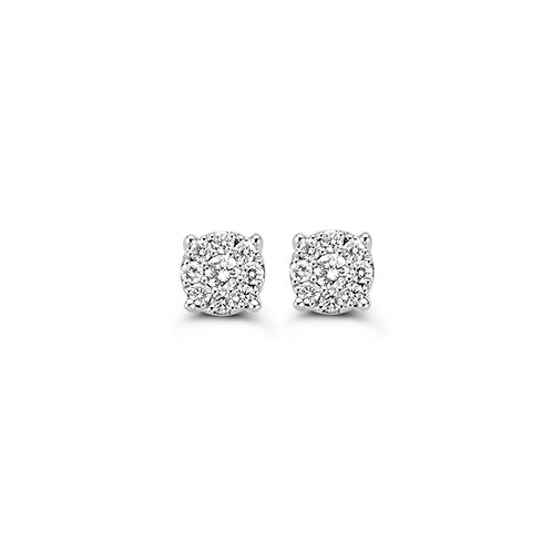 Boucles d'oreille pavé diamants or blanc Beheyt