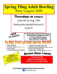 Party League Summer thursday 2020 covid