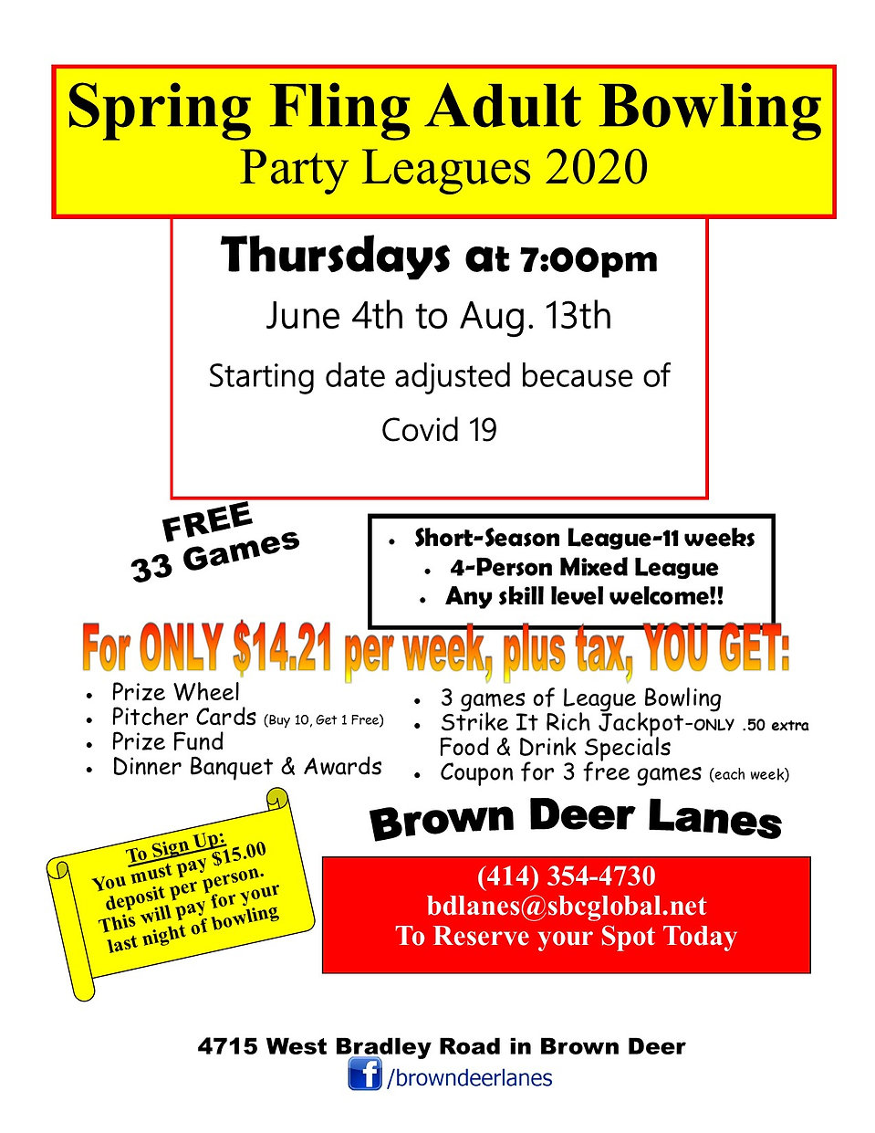 Party League Summer thursday 2020 covid