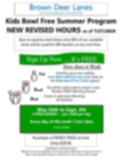 BDL Flyer for Kids Bowl Free 2020 Colore