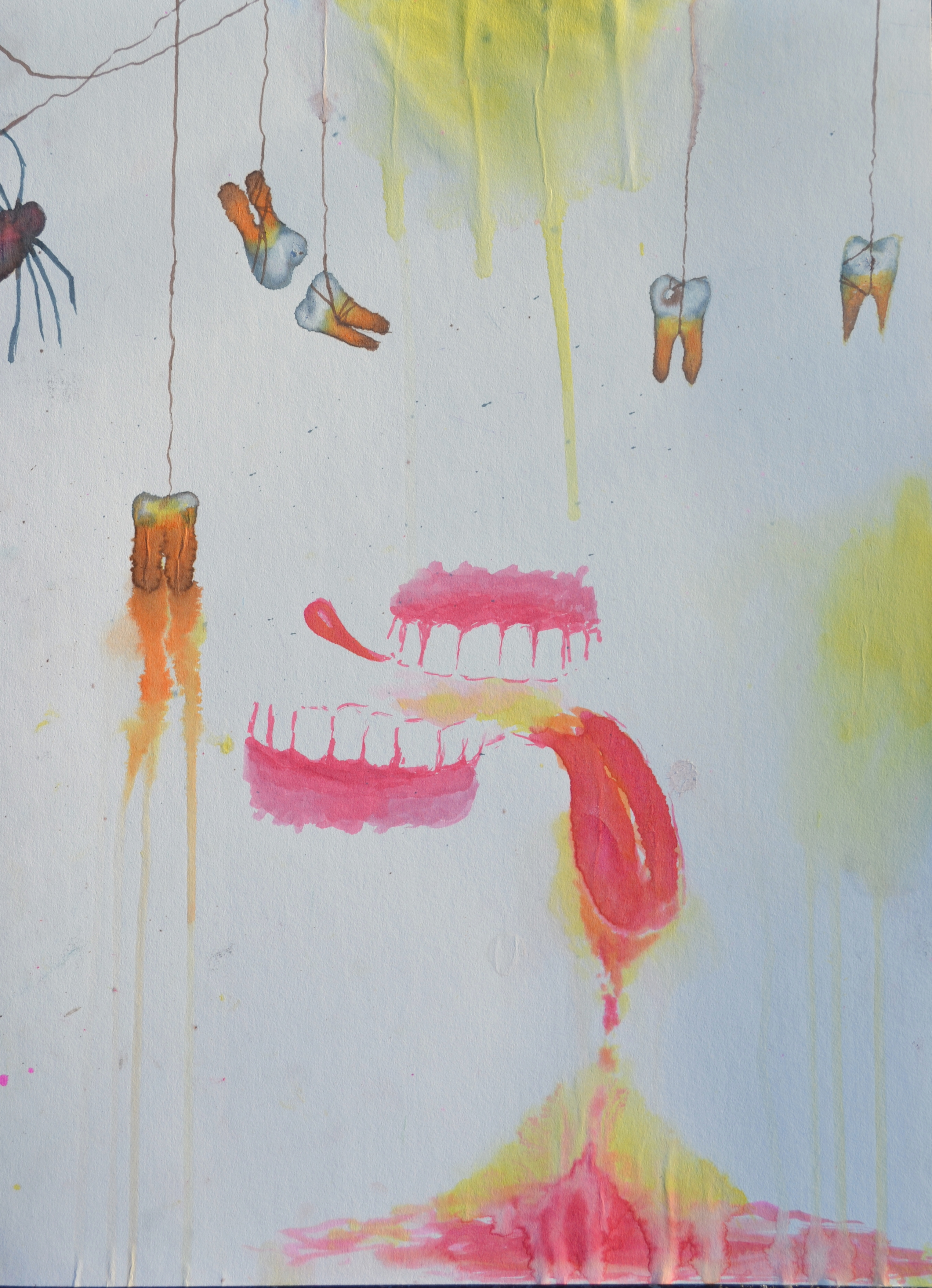 Show Me Your Teeth. Watercolor.