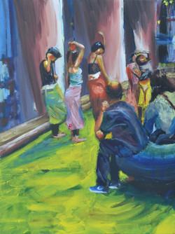 Dancers. Acrylic.