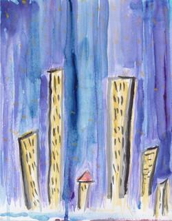 City Love. Watercolor.