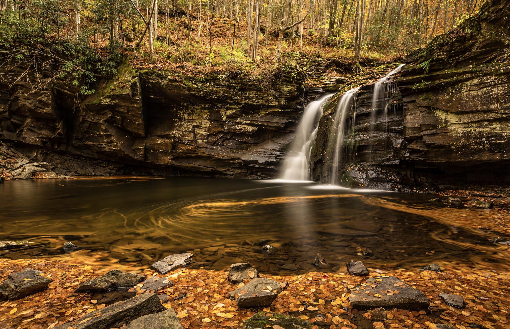 The falls at Seneca Rocks