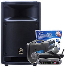 Yamaha MSR400 400w Powered Speaker w Radio Mic