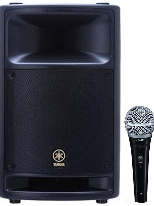 Yamaha MSR400 400w Powered Speaker w Mic