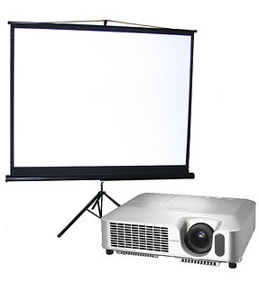 Epson 2,700 Lumens SVGA video projector and screen