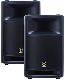 2 x Yamaha MSR400 400w Powered Speaker