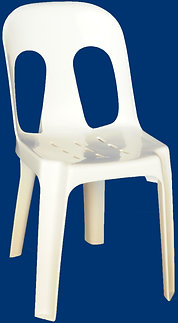 White Pipi Chairs ($2 pick up) ($3 delivered)