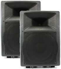 2 x Semi-Pro 200w Powered Speaker