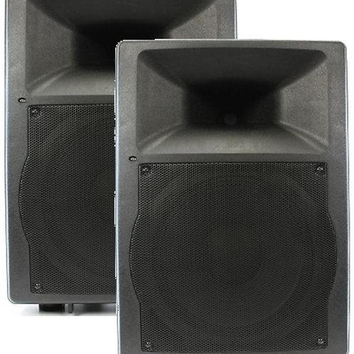 2 x Semi-Pro 200w Powered Speaker