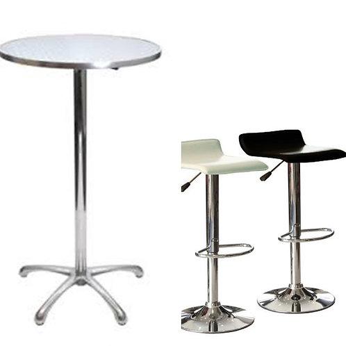 2 Bar Table & 4 Stool Combo