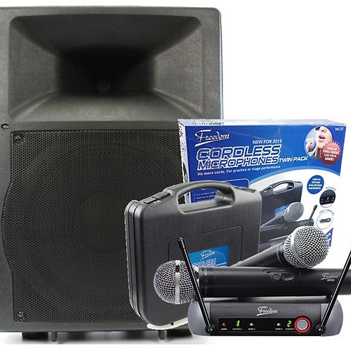 Semi-Pro 200w Powered Speaker w/ Radio Mic