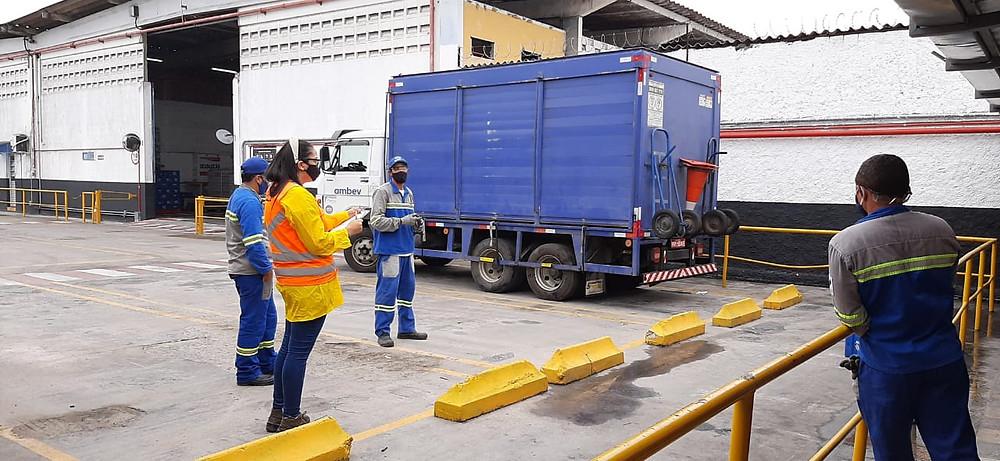Treinamento de caminhão simulado