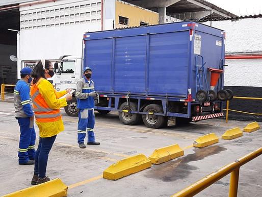 Treinamento caminhão Simulado