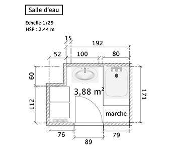 plan 2D décoration interieur le grain de sel