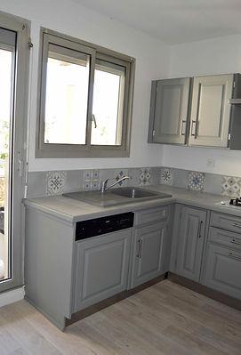 rénovation et home staging d'une cuisine dans un appartement à Talence réalisé par Anglerot Marine décoratrice