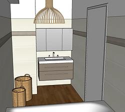 decoration salle de bain en image 3D