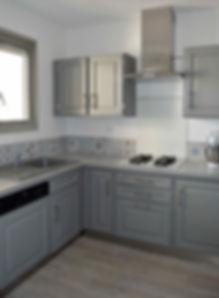 rénovation et home staging d'une cuisine dans un appartement à Talence par le grain de sel déco