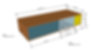 création meuble sur mesure plan 3D réalisé par le grain de sel déco