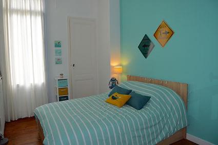 décoration chambre d'ado dans une maison à bordeaux réalisé par Anglerot Marine décoratrice