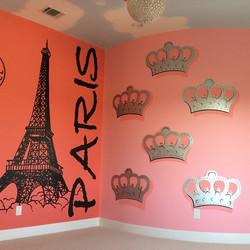 Paris theme girls room