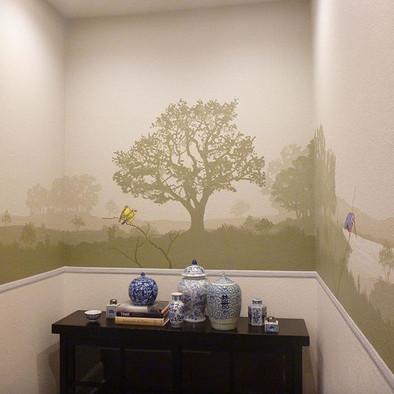 hall landscape mural