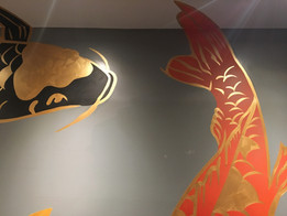 koi fish mural